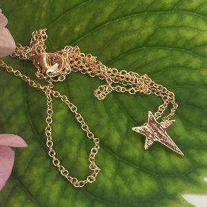 Jewelry - Rose Gold Dainty Delicate Star Burst Necklace